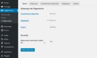 PagSeguro Payment Gateway activation screenshot