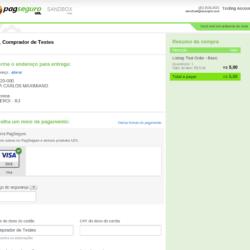 PagSeguro Payment Gateway checkout screenshot