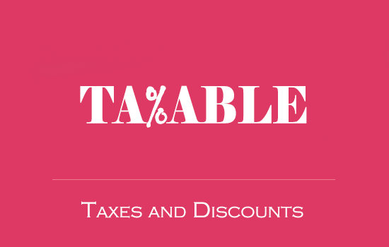 Taxable - tax rates and discounts plugin thumbnail