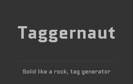 Taggernaut tag generator thumbnail