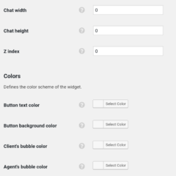 Chatra settings screenshot (2)