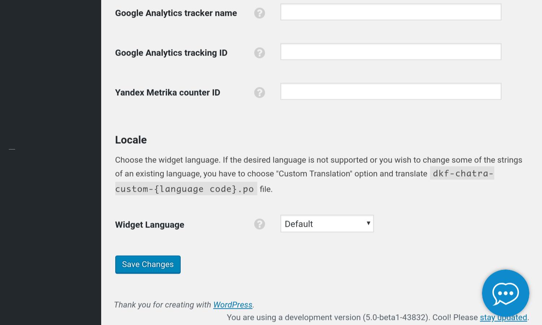 Chatra settings screenshot (4)