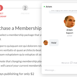 Chatra widget screenshot