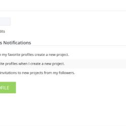 HireBee Edit Profile form screenshot