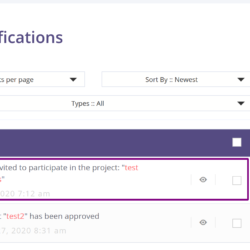 HireBee Notifications dashboard screenshot
