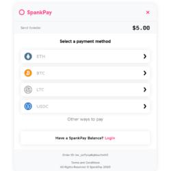 SpankPay - Select Payment Method screenshot