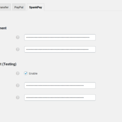 SpankPay - Settings screenshot