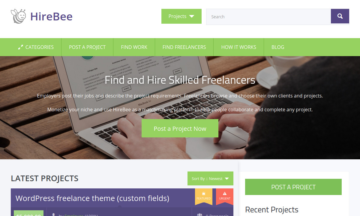 Default HireBee home page banner image